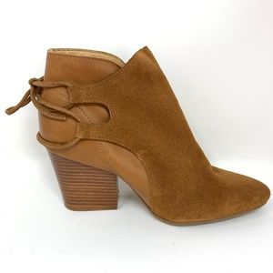 H London Women's Brown Leather Bootie Size 8